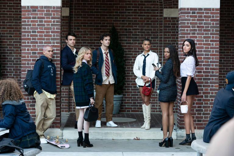 Cena da nova temporada de 'Gossip Girl', que volta nova geração de jovens super-ricos de Nova York, na HBO Max