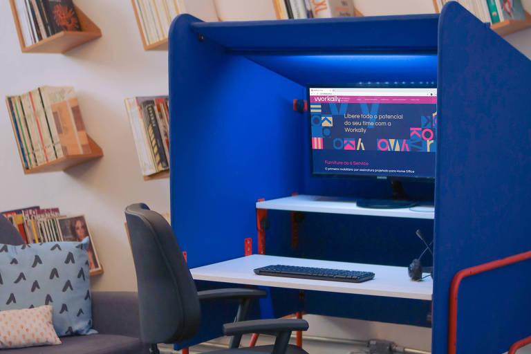 Empresa aluga móveis para home office que podem ser desmontados em minutos