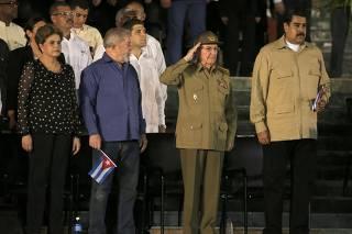 Dignitaries attend a tribute in honor of former Cuban leader Castro in Santiago de Cuba