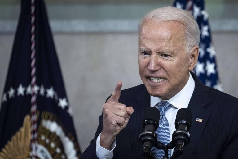 Biden ataca leis para restringir acesso ao voto em discurso duro no berço  da democracia dos EUA - 13/07/2021 - Mundo - Folha