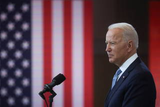 U.S. President Joe Biden delivers remarks on actions to protect voting rights in a speech in Philadelphia