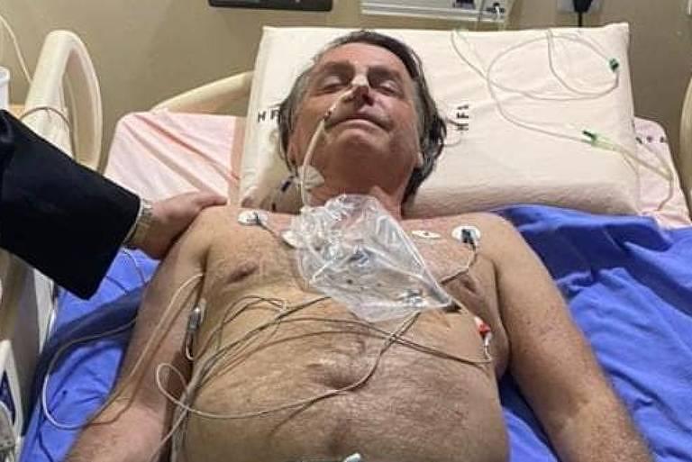 O presidente Jair Bolsonaro em imagem divulgada por ele em suas redes sociais