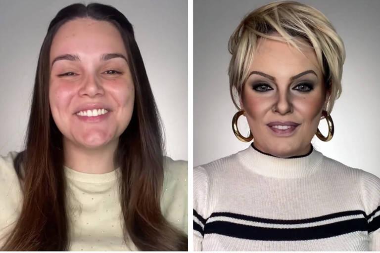 Maquiadora impressiona com transformação em Ana Maria Braga