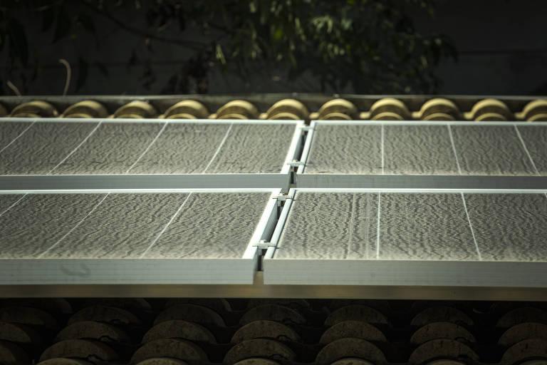 Placas de energia solar instaladas da empresa Energy Brasil