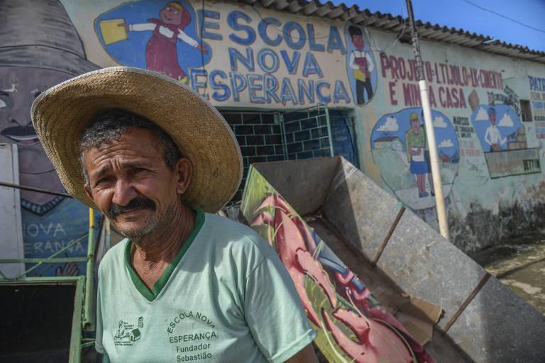 Catador contrói casas e mantém jardim-escola em Olinda