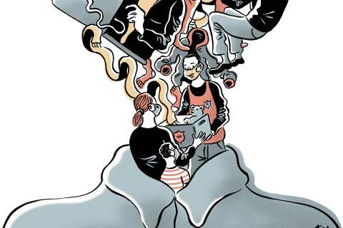 Ilustração de Fido Nesti para o caderno Folha Solidariedade