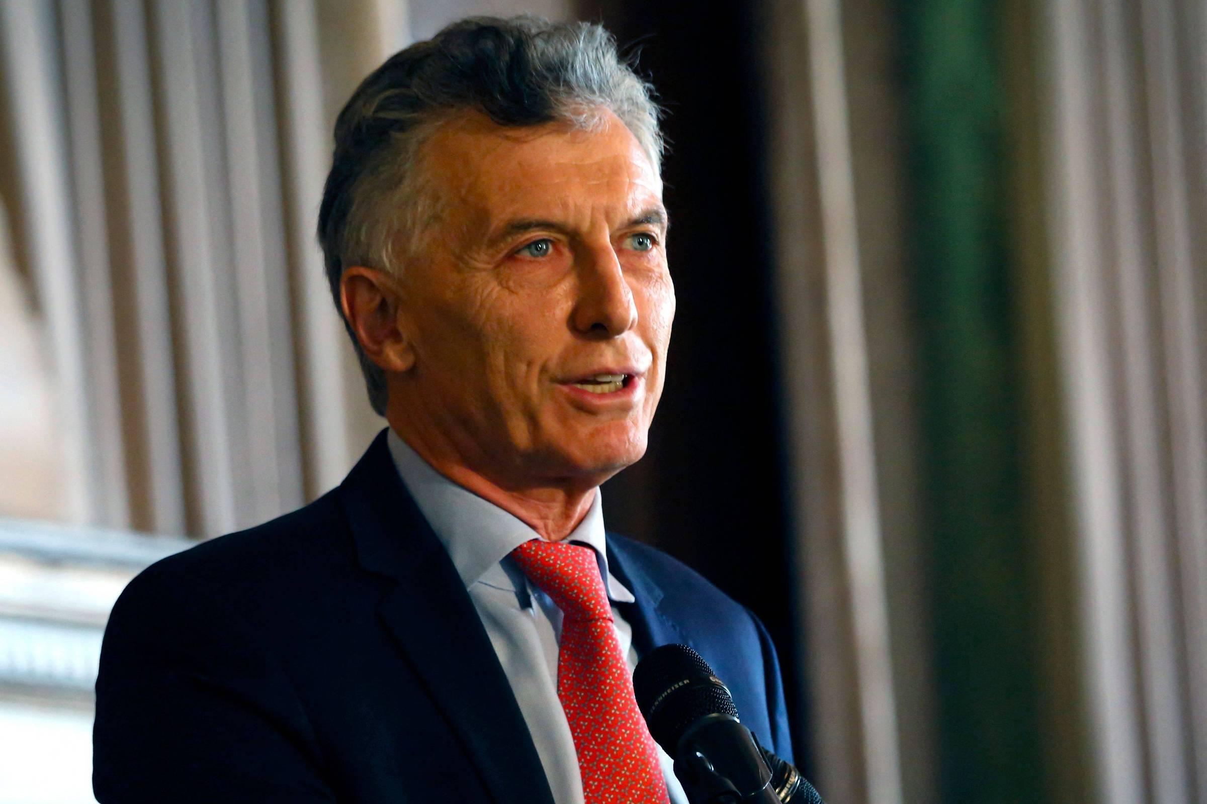 O ex-presidente argentino Mauricio Macri participa do fórum