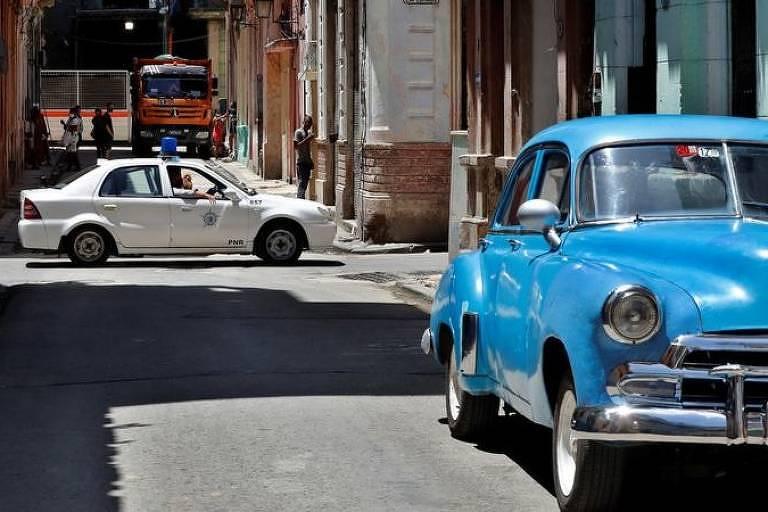 Ruas de Havana pós-manifestações
