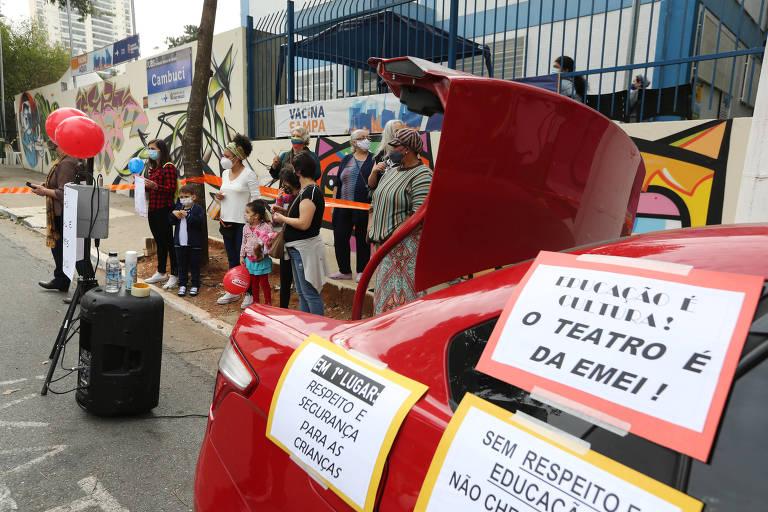 Pais de alunos reclamam de novo quartinho em UBS em São Paulo