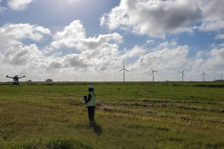 A empresa Arthwind utiliza drones nas inspeções preventivas dos parques eólicos