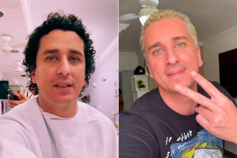 Rafael Portugal fica loiro e faz comparação com Belo e Justin Bieber