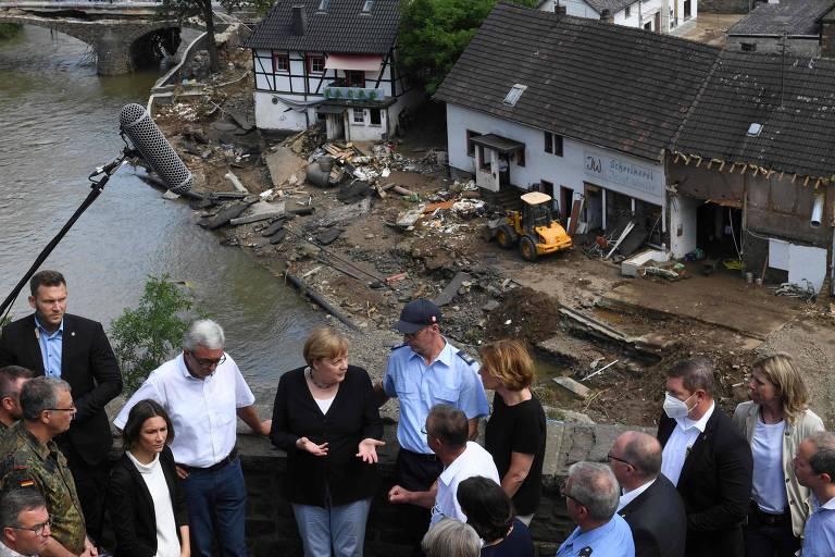 Aterrorizante e indescritível, diz Merkel sobre enchentes na Europa; há 191 mortos