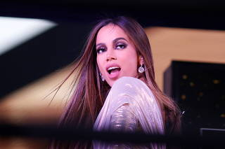 FILE PHOTO: Anitta performs in Times Square on New Years Eve in New York City
