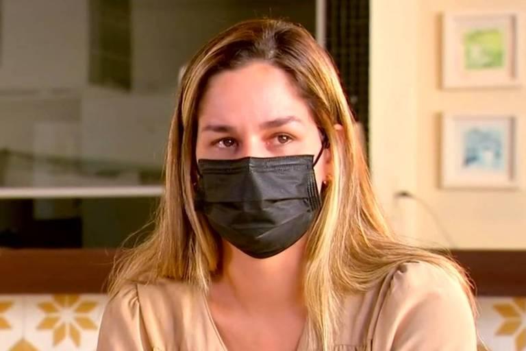 Pamela Hollanda em entrevista ao Fantástico deste domingo (18)