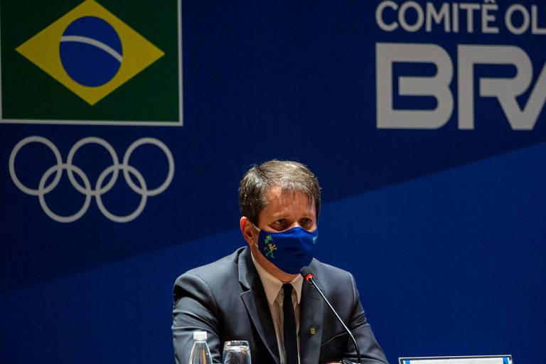 Marco La Porta durante eleição do Comitê Olímpico do Brasil