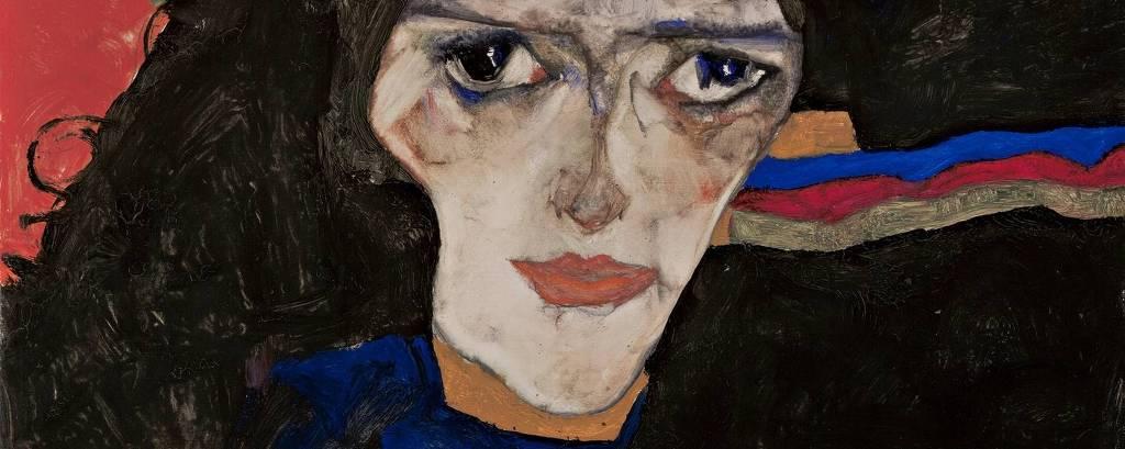 'Mourning Woman', de Egon Schiele