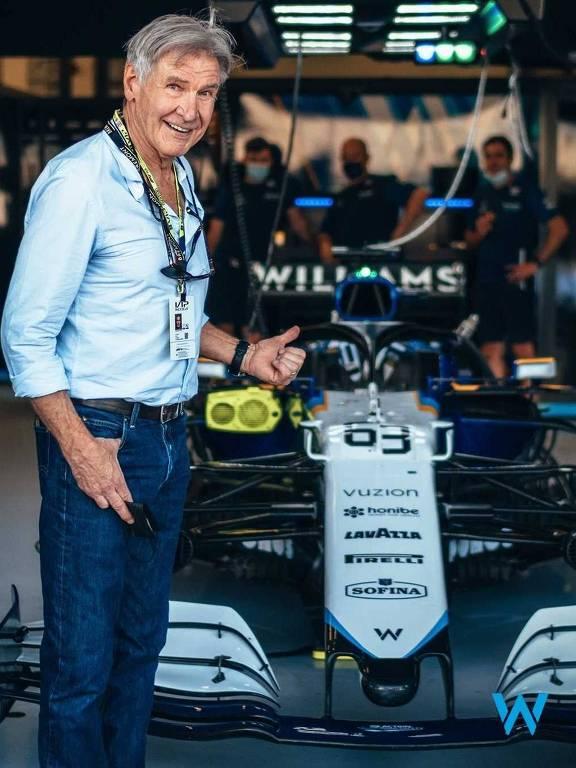 Harisson Ford no GP da Inglaterra