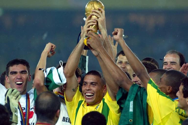 A final da Copa do Mundo de 2002 entre Brasil e Alemanha