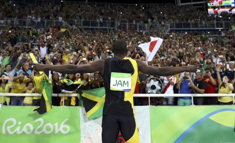 As vitórias de Bolt nos Jogos Olímpicos
