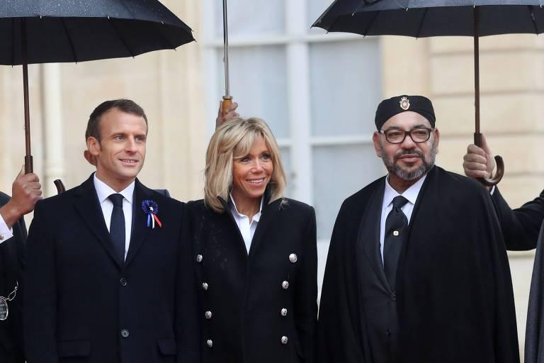 Lista de possíveis alvos de espionagem inclui Macron, rei do Marrocos e diretor da OMS