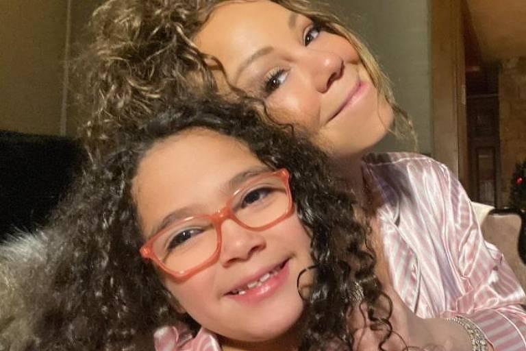 Mariah Carey com a filha, Monroe