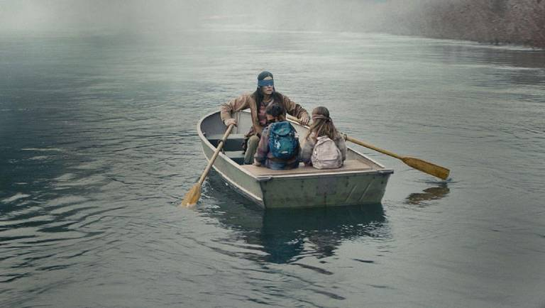"Cena de ""Bird Box"", da Netflix, protagonizado por Sandra Bullock"