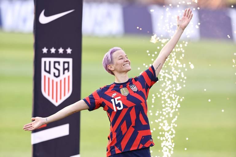 Megan Rapinoe lidera o futebol dos EUA dentro e fora de campo