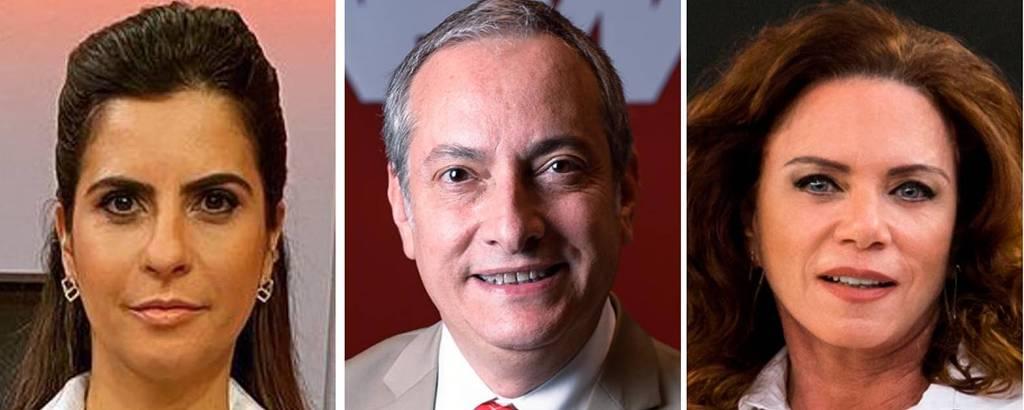 Camila Bomfin, José Roberto Burnier e Leilane Neubarth