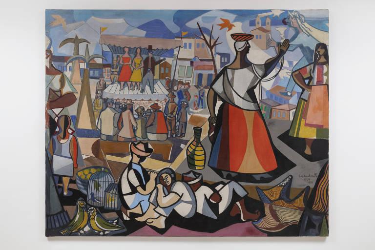 'Feira Nordestina', de 1951, de Di Cavalcanti