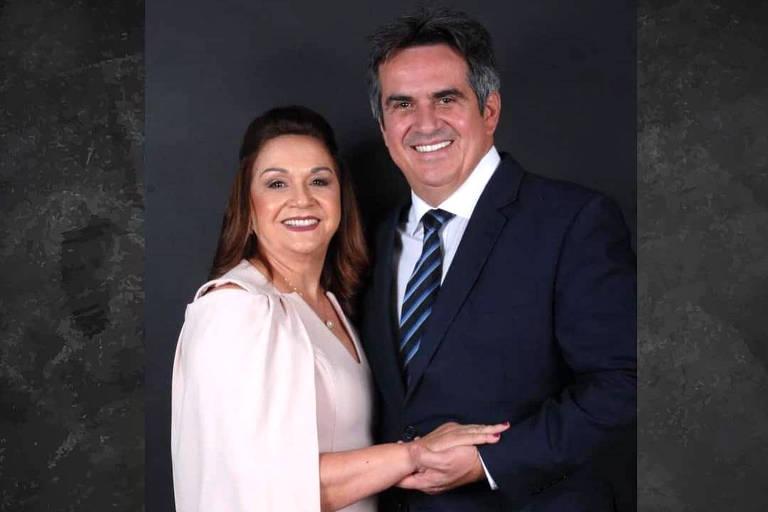O senador Ciro Nogueira e sua mãe, Elaine Nogueira