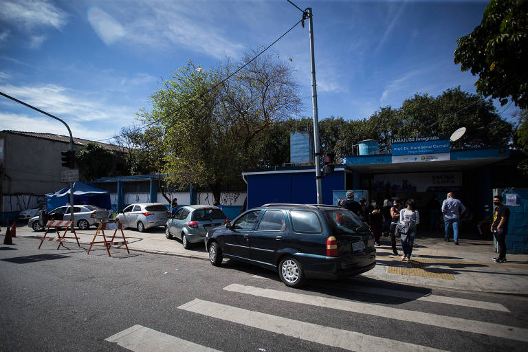 Movimentação na UBS Humberto Cerruti, na zona leste de São Paulo