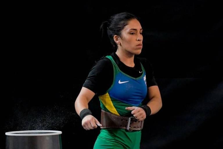 A atleta brasileira Nathasha Rosa, do levantamento de peso, que disputará a Olimpíada de Tóquio