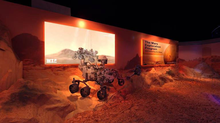Robôs e astromóveis são utilizados para missões exploratórias em Marte