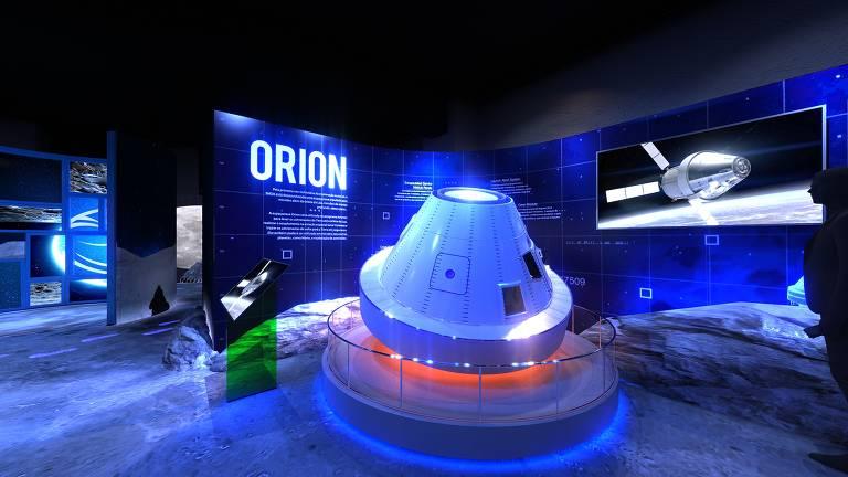 Réplica da cápsula Orion, construção feita pela Nasa para explorar o espaço