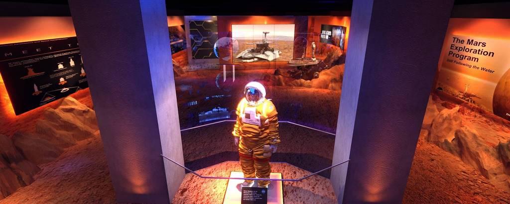 Imagem da Estação Marte, parte da mostra 'Futuro Espacial', no Farol Santander