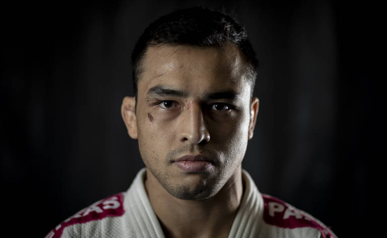 O judoca do clube Paineiras do Morumby Eduardo Katshuiro Barbosa, 29, que representará o Brasil nos Jogos de Tóquio 2020; ele compete na categoria leve (para lutadores com menos de 73 kg). Será sua primeira Olimpíada