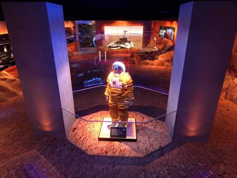 Imagem da Estação Marte, parte da mostra que fica no 22º andar do Farol Santander