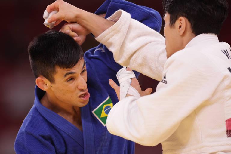 Eric Takabatake perdeu na segunda rodada e foi eliminado da disputa por medalha no judô