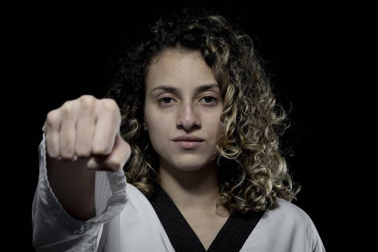 Retrato de Milena Titoneli (22), atleta que vai representar o Brasil nos Jogos Olímpicos de Tóquio 2020