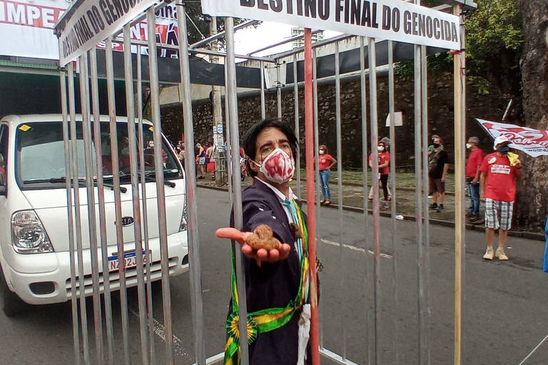 Manifestações contra o presidente Jair Bolsonaro em Salvador