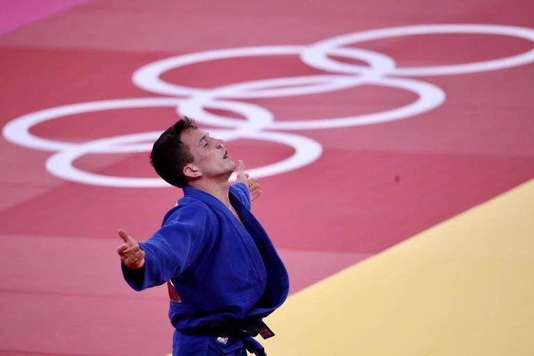 O brasileiro Daniel Cargnin conquistou a medalha de bronze no judô nas Olimpíadas de Tóquio
