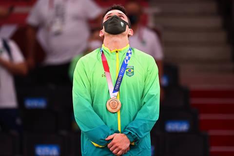 Daniel Cargnin conquista o bronze no judô nas Olimpíadas de Tóquio