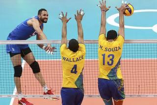 Volleyball - Men's Preliminary - Pool A Brazil v Italy