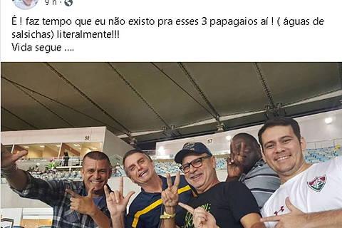 Nas redes, Queiroz reclama de aliados de Bolsonaro e diz que 'metralhadora está cheia'