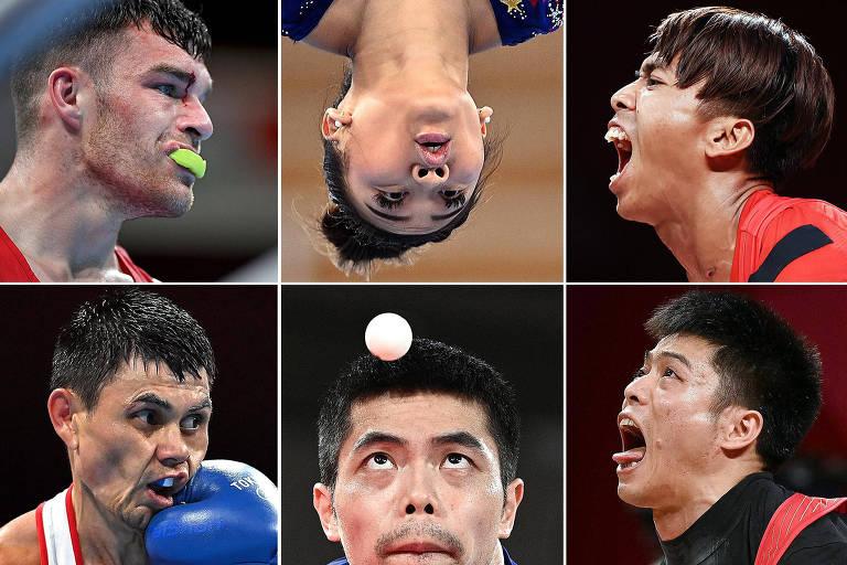 Caras e bocas nas Olimpíadas de Tóquio