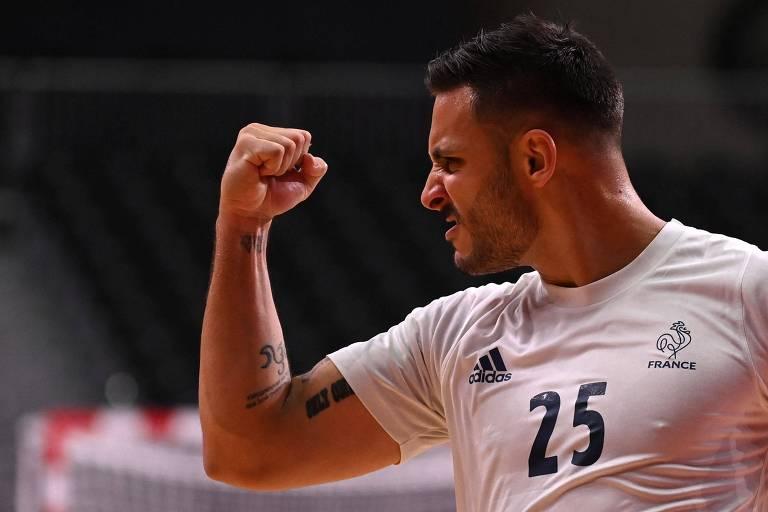 A seleção brasileira foi derrotada por 34 a 29 para a França
