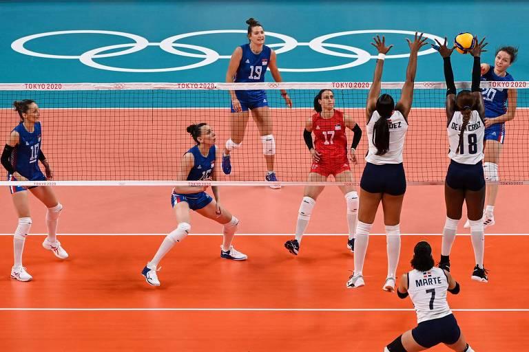 República Dominicana perdeu para a Sérvia por 3 sets a 0 na estreia das Olimpíadas de Tóquio