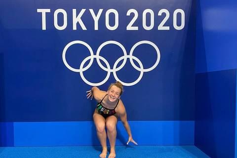 A nadadora uruguaia Nicole Frank, que fez sua estreia nos Jogos Olímpicos de Tóquio