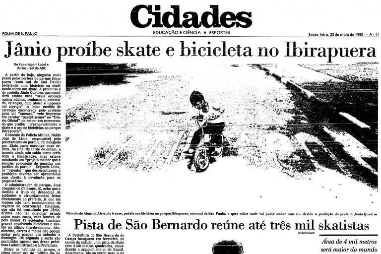 Jânio Quadros proibiu skate e disse que abuso de crianças era 'impossível de corrigir'