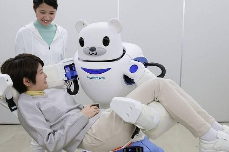 O Japão está implantando robôs em lares de idosos, escritórios e escolas à medida que sua população envelhece e sua força de trabalho diminui